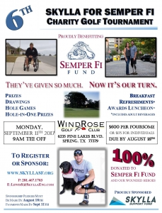 Skylla Semper Fi Fund 2017 Golf Tournament Flyer