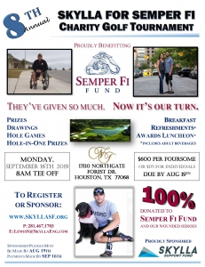 Skylla Semper Fi Fund 2019 Golf Tournament Flyer